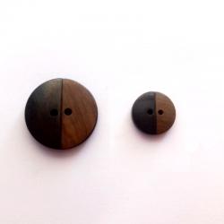 Botones Latón - Madera Natural