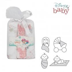Gasa Bebé Minnie Mouse pack 3